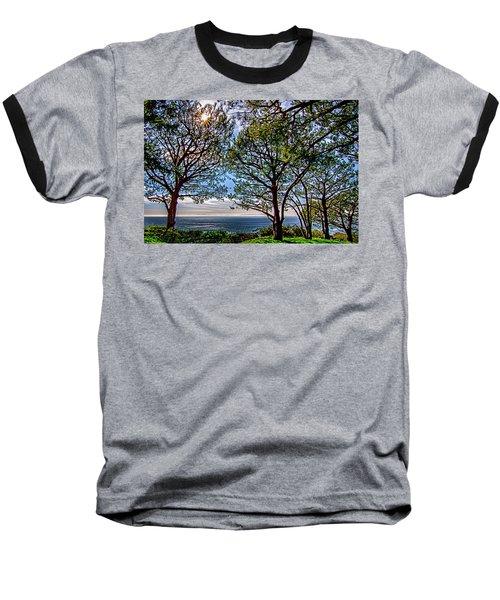Wayfarer's  Ocean View Baseball T-Shirt by Joseph Hollingsworth