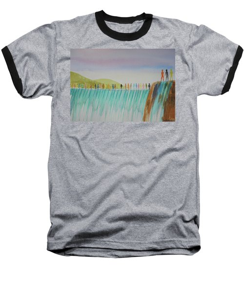 Baseball T-Shirt featuring the painting We Are All The Same 1.1 by Tim Mullaney