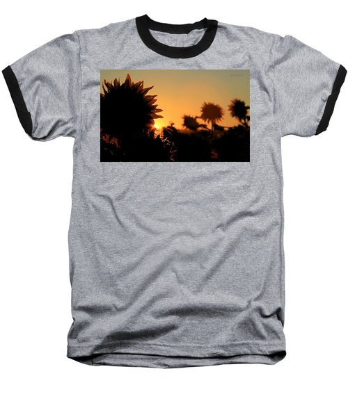 Baseball T-Shirt featuring the photograph We Are Sunflowers by Chris Berry