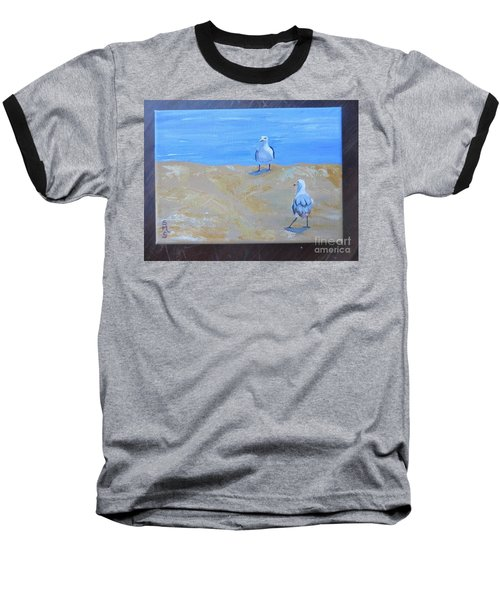 We First Met On The Beach Baseball T-Shirt
