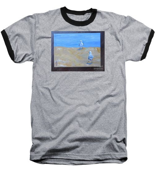 We First Met On The Beach Baseball T-Shirt