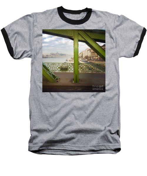 We Live In Budapest #4 Baseball T-Shirt