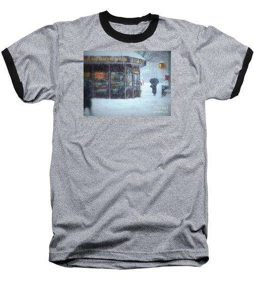 We Sell Flowers - Winter In New York Baseball T-Shirt
