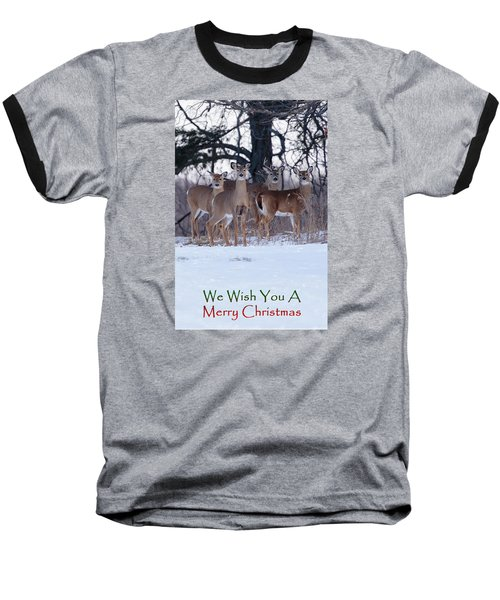 We Wish You A Merry Christmas Baseball T-Shirt by Gary Hall