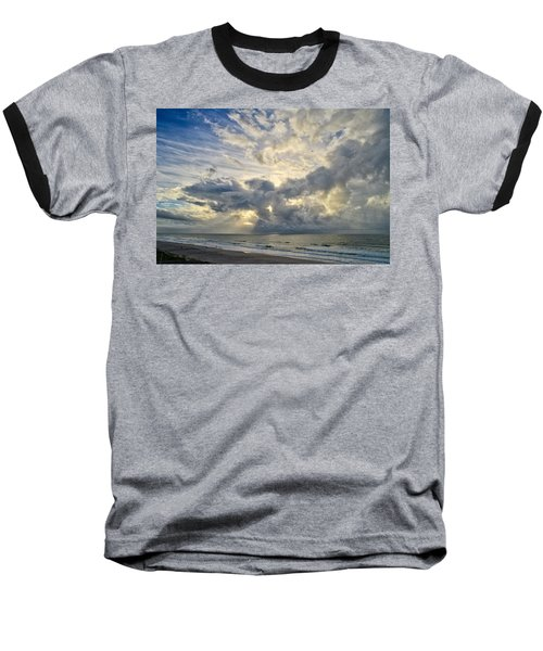 Weather Over Topsail Beach 2977 Baseball T-Shirt