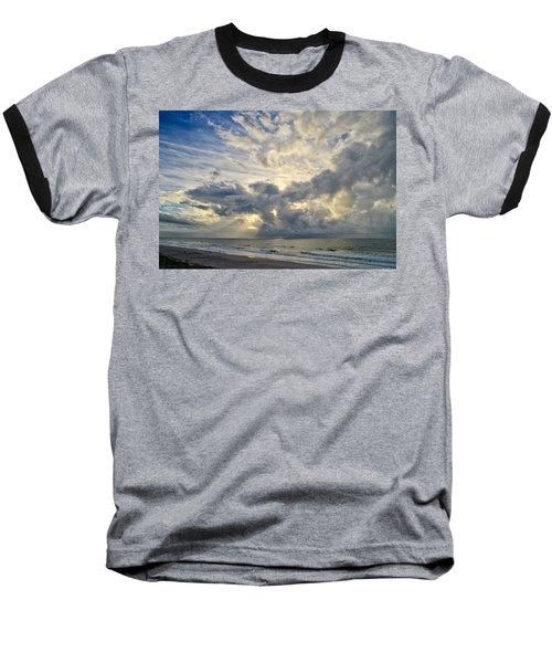 Weather Over Topsail Beach 2977 Baseball T-Shirt