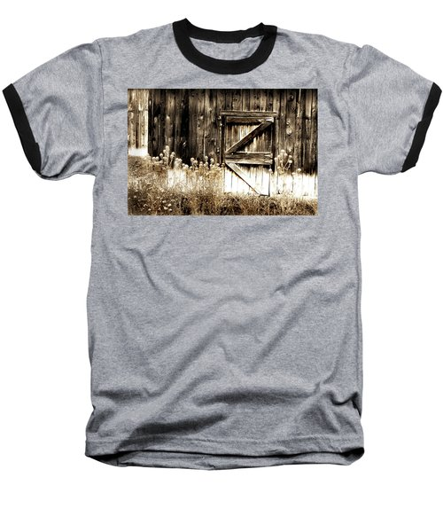 Weathered Barn Door Baseball T-Shirt by Gray  Artus