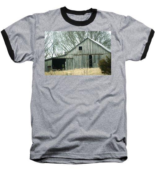 Weathered Barn In Winter Baseball T-Shirt