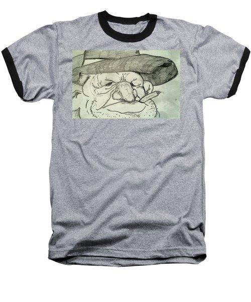 Weathered Old Man Baseball T-Shirt