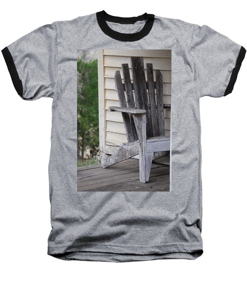 Baseball T-Shirt featuring the photograph Weathered Porch Chair by Debbie Karnes