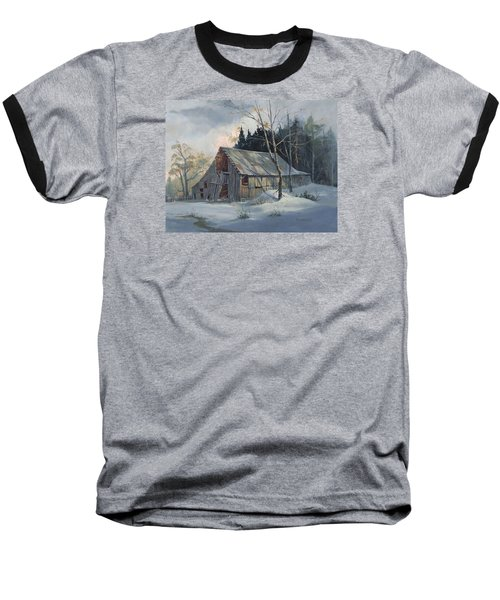 Baseball T-Shirt featuring the painting Weathered Sunrise by Michael Humphries