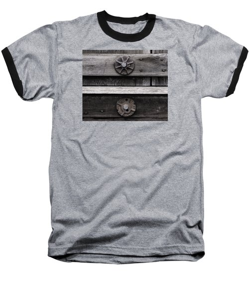 Baseball T-Shirt featuring the photograph Weathered Wood And Metal Five by Kandy Hurley