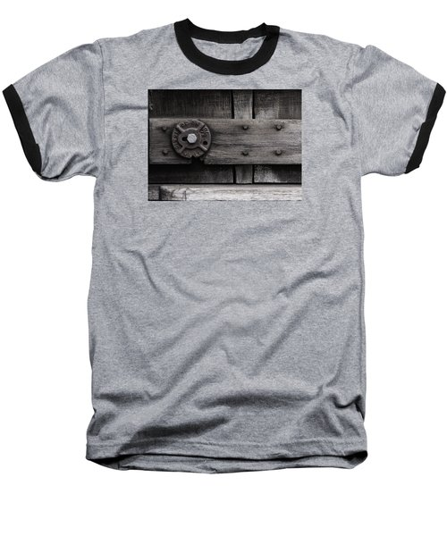 Baseball T-Shirt featuring the photograph Weathered Wood And Metal Four by Kandy Hurley