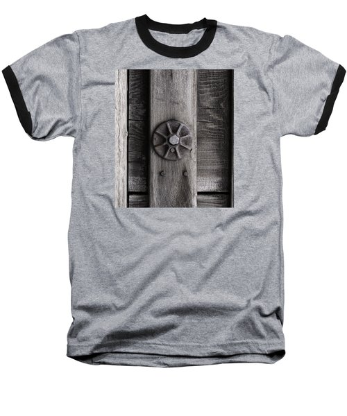 Weathered Wood And Metal Three Baseball T-Shirt