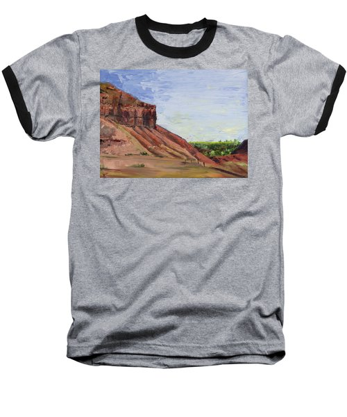 Weber Sandstone Baseball T-Shirt by Jane Autry