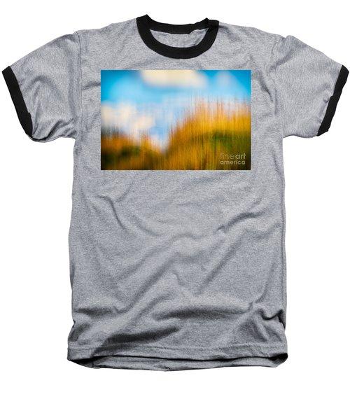 Weeds Under A Soft Blue Sky Baseball T-Shirt