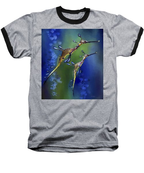 Weedy Sea Dragon Baseball T-Shirt by Thanh Thuy Nguyen