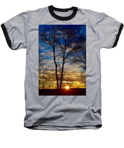 Weekend Sunrise In Minnesota Baseball T-Shirt by Dacia Doroff