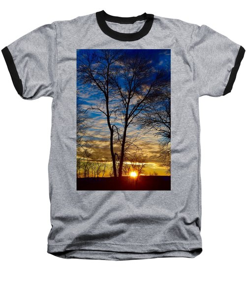 Weekend Sunrise In Minnesota Baseball T-Shirt