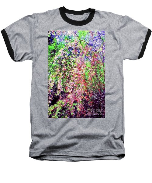 Weeping Cherry Baseball T-Shirt by Holly Martinson