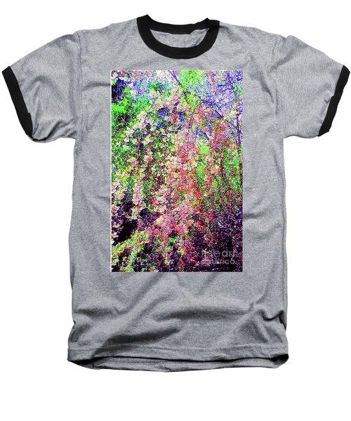 Weeping Cherry Baseball T-Shirt by Holly Martinson