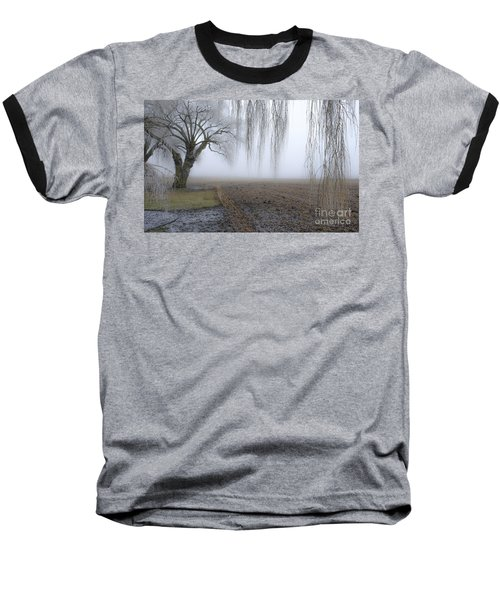 Weeping Frozen Willow Baseball T-Shirt
