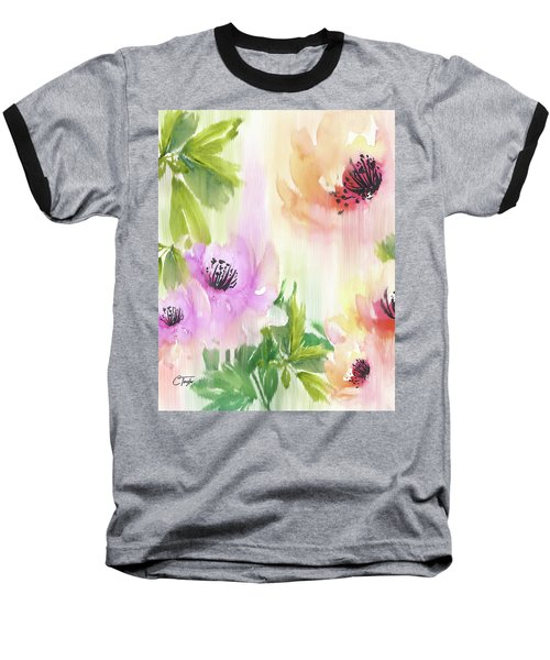 Baseball T-Shirt featuring the painting Weeping Rose Forest by Colleen Taylor