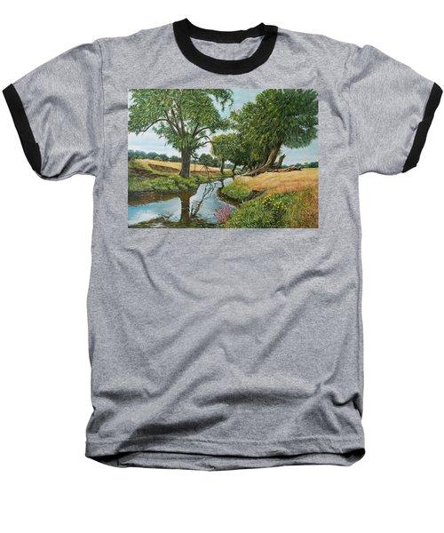 Weeping Willows At Beverley Brook Baseball T-Shirt