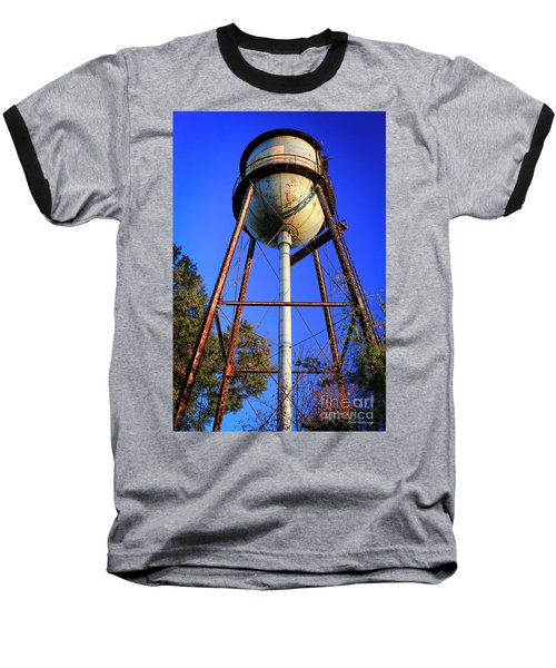 Baseball T-Shirt featuring the photograph Weighty Water Cotton Mill  Water Tower Art by Reid Callaway
