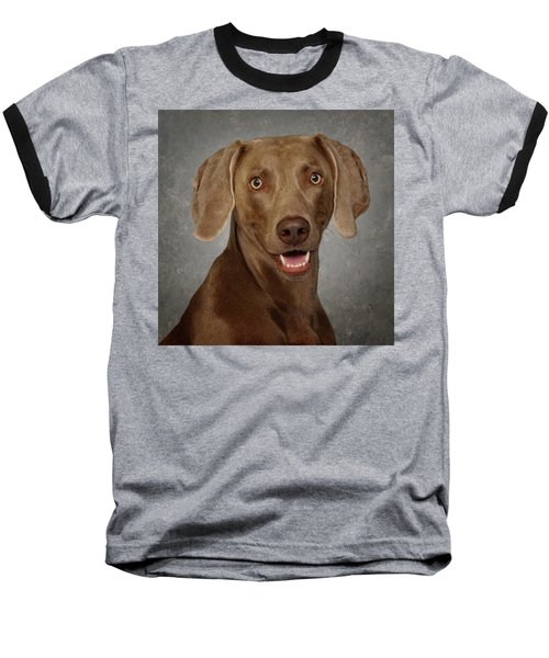 Weimaraner Baseball T-Shirt by Greg Mimbs