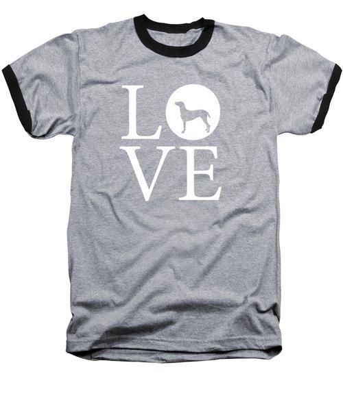 Weimaraner Love Red Baseball T-Shirt