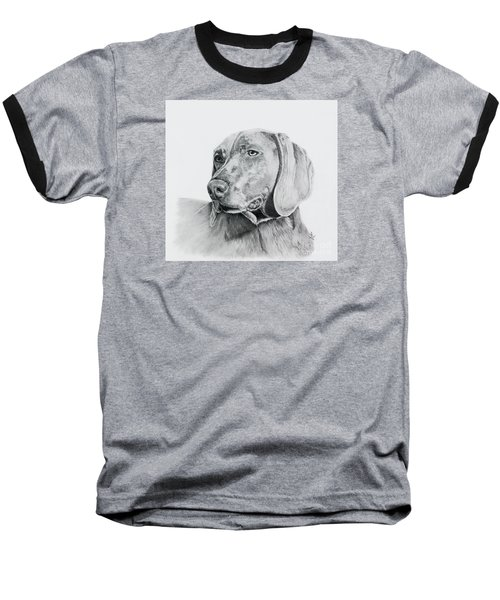 Baseball T-Shirt featuring the drawing Weimaraner by Terri Mills