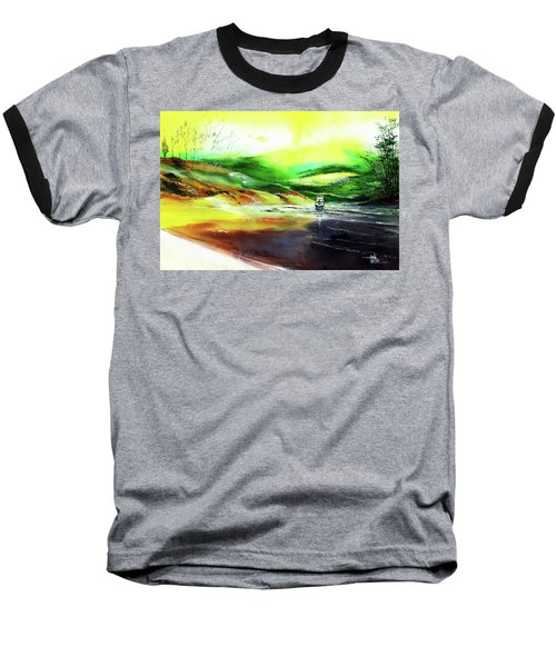 Baseball T-Shirt featuring the painting Welcome Back by Anil Nene