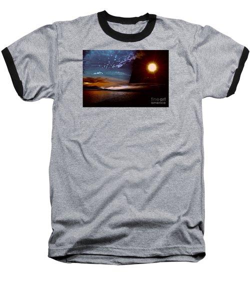 Welcome Beach 2015 2 Baseball T-Shirt by Elaine Hunter