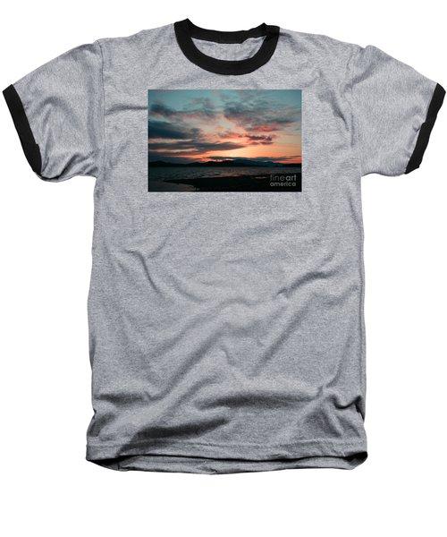 Welcome Beach Sunset 2015 Baseball T-Shirt by Elaine Hunter