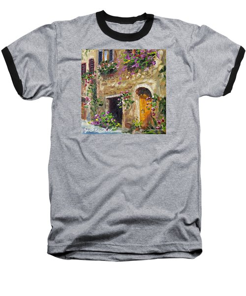 Baseball T-Shirt featuring the painting Welcome Home by Jennifer Beaudet