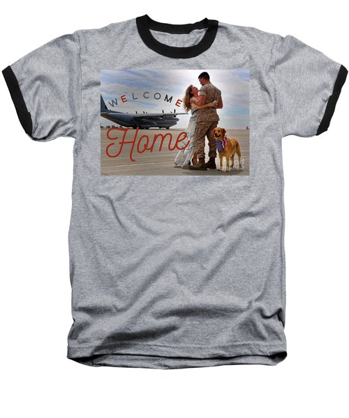 Baseball T-Shirt featuring the digital art Welcome Home by Kathy Tarochione