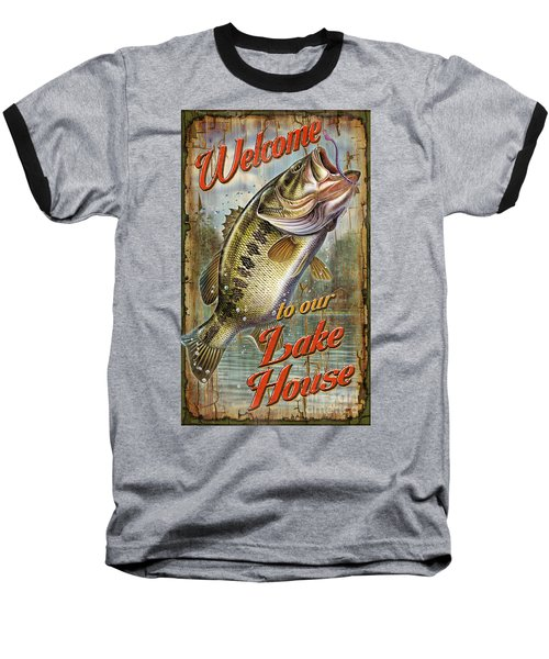 Welcome Lake House Sign Baseball T-Shirt