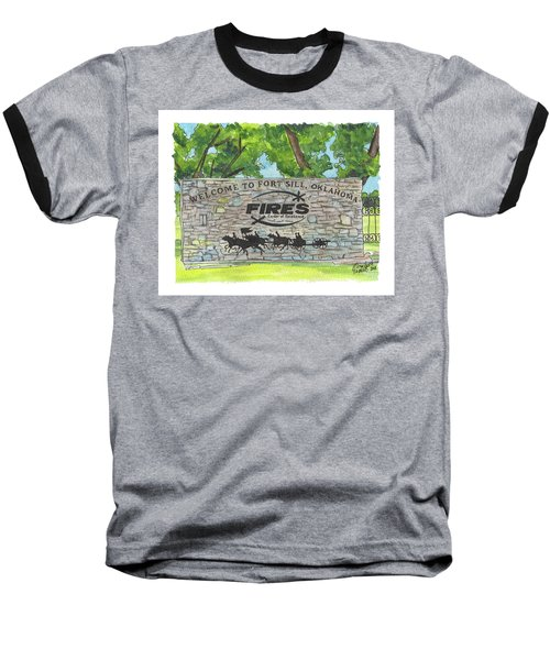 Welcome Sign Fort Sill Baseball T-Shirt