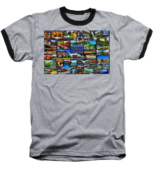 Baseball T-Shirt featuring the digital art Welcome To Harrison Arkansas by Kathy Tarochione