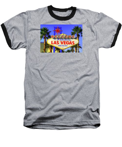 Welcome To Las Vegas Baseball T-Shirt by Anthony Sacco