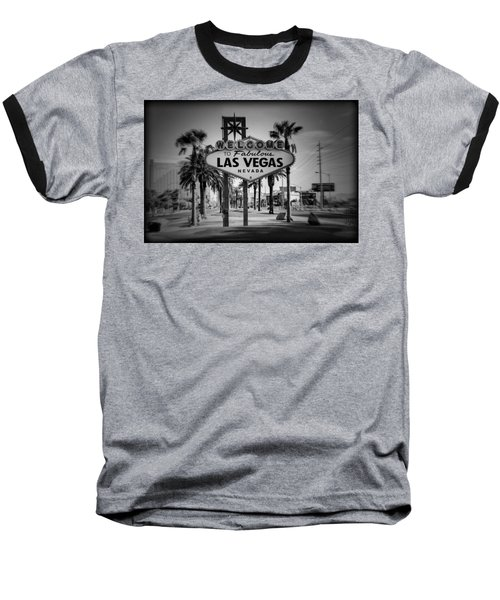 Welcome To Las Vegas Series Holga Black And White Baseball T-Shirt