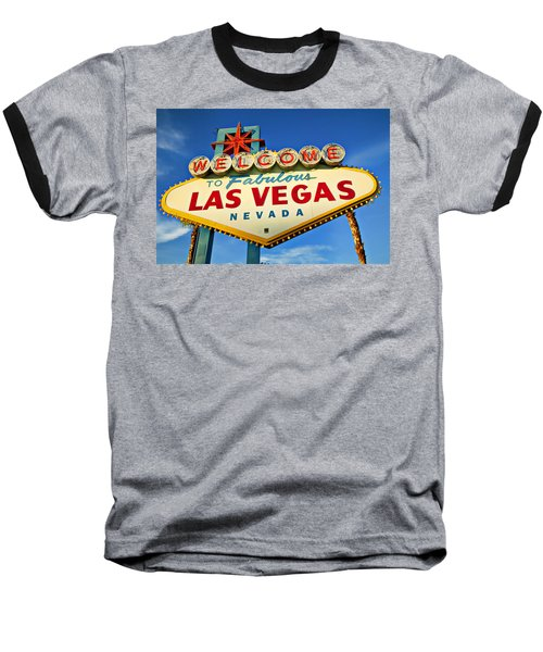 Welcome To Las Vegas Sign Baseball T-Shirt
