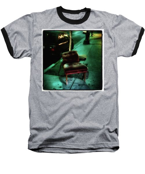 Baseball T-Shirt featuring the photograph Welcome To My Living Room, Pull Up A by Mr Photojimsf