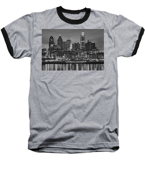 Welcome To Penn's Landing Bw Baseball T-Shirt