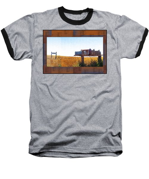 Baseball T-Shirt featuring the photograph Welcome To Portage Population-6 by Susan Kinney