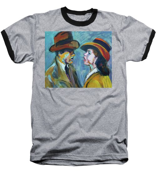 Baseball T-Shirt featuring the painting We'll Always Have Paris by Les Leffingwell