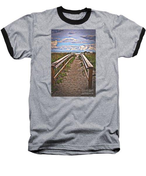 Baseball T-Shirt featuring the photograph Well Trodden Path  ... by Chuck Caramella