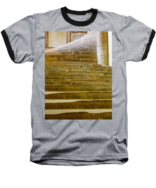 Wells Cathedral Steps Baseball T-Shirt by Colin Rayner