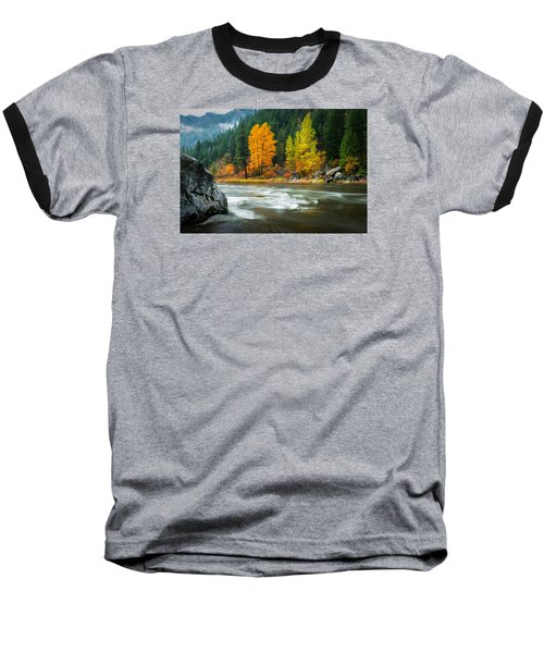 Baseball T-Shirt featuring the photograph Wenatchee Riverside by Dan Mihai